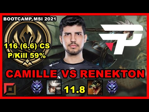 (New) Robo camille vs renekton top patch 11.8   pain bootcamp euw - msi 2021