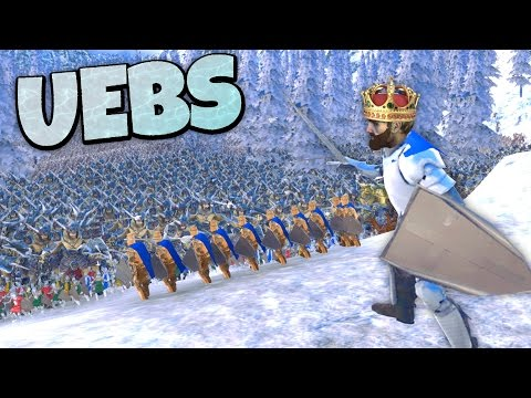 (New) Uebs - defending the ice king (dave) in avalanche canyon! - ultimate epic battle simulator gameplay