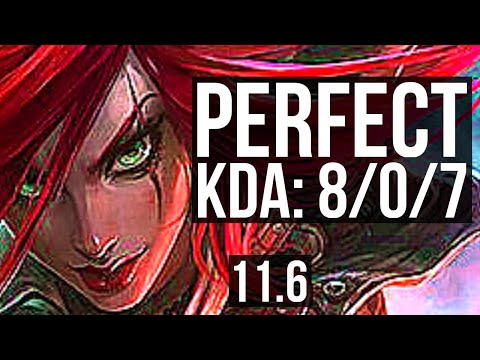 (New) Katarina vs malphite (mid) | 8 0 7, 1.2m mastery, legendary, 500+ games | kr diamond | v11.6