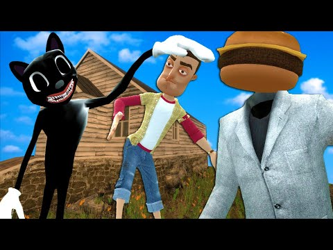 (New) Cartoon cat destroyed our house in gmod! (garrys mod multiplayer roleplay)