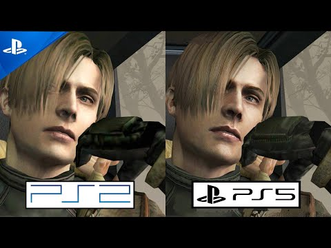 (New) Resident evil 4 ps5 vs ps2 graphics comparison gameplay   playstation 5 vs playstation 2   1080p