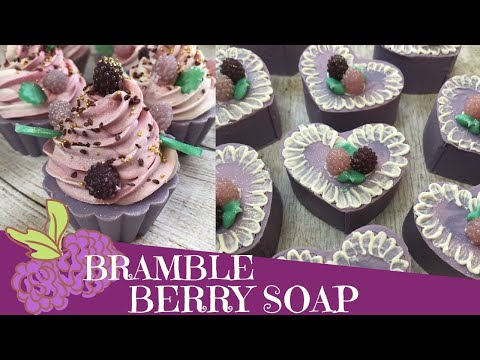 (HD) Making of bramble berry cold process soap brush embroidery technique | 💜 gypsyfae creations