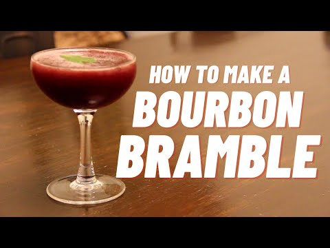 (New) How to make a bourbon bramble cocktail - locked down e loaded: ep 3