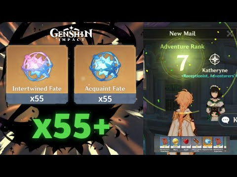 (New) How to get 8+ characters in day 1 - 55 wishes on adventure rank 7 - genshin impact reroll guide