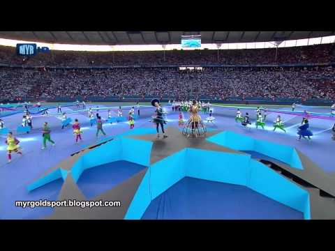 (New) 2015 uefa champions league final opening ceremony, olympiastadion, berlin