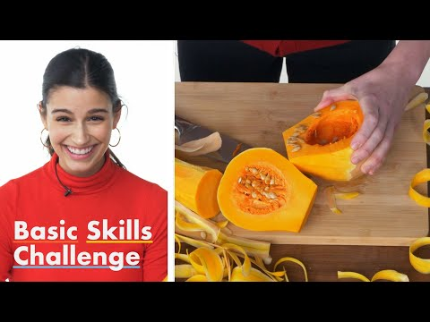(HD) 50 people try to peel and chop a butternut squash | epicurious