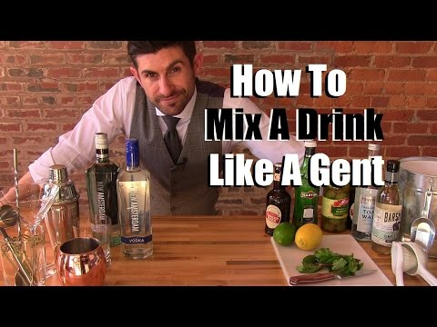 (HD) How to mix a drink like a gentleman | 3 stylish drink options | stylish party tips