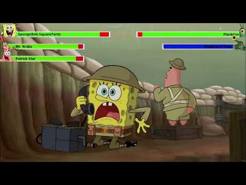 (Ver Filmes) The spongebob movie: sponge out of water (2015) food fight with healthbars