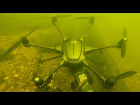 (HD) I found a crashed drone underwater while scuba diving! (returned to owner)