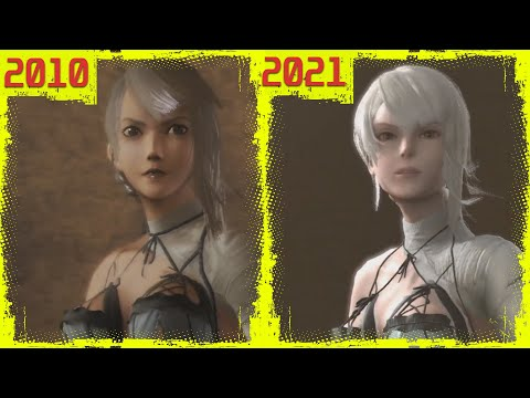 (New) Nier replicant (ニーアレプリカント ) original ps3 vs ps4 remaster early graphics comparison