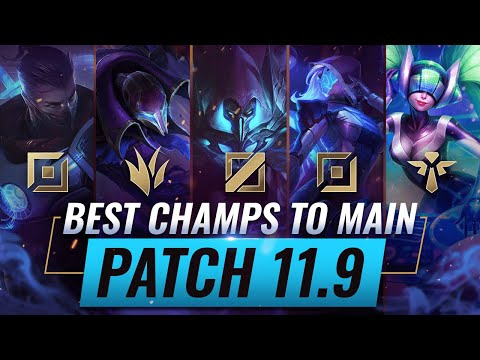 (New) 3 best champions to main for every role in patch 11.9 - league of legends