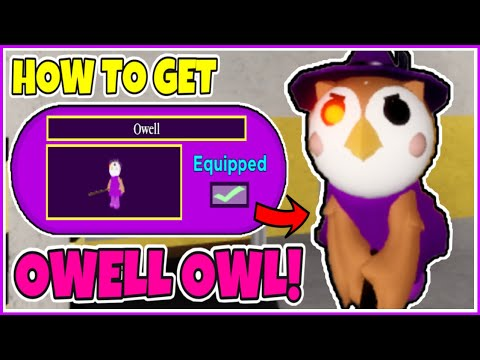 (New) How to unlock the owell skin + showcase in piggy [piggy spooky hunt halloween event!] - roblox