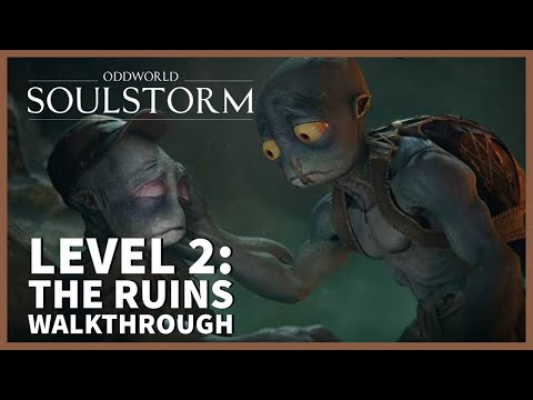 (New) Oddworld soulstorm 100% walkthrough gameplay ps5 | level 2: all mudokons, secret areas, royal jelly