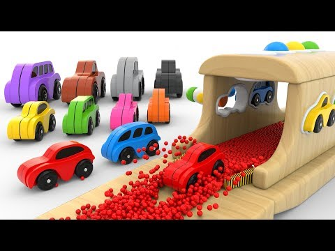 (Ver Filmes) Learn colors with wooden hammer educational toys - colors collection for children