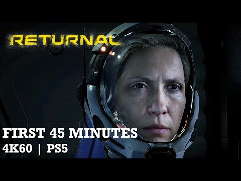(New) Returnal - first 45 minutes of playstation 5 gameplay in 4k60   no commentary