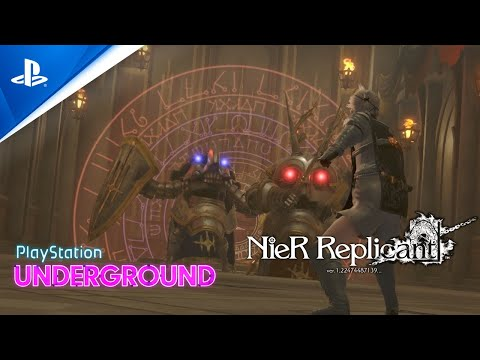 (New) Nier replicant gameplay - playstation underground | ps4