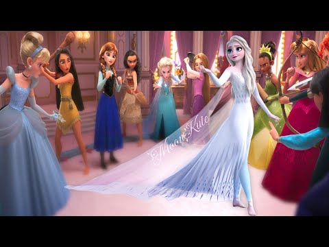 (New) Elsa frozen 2 vs disney princesses