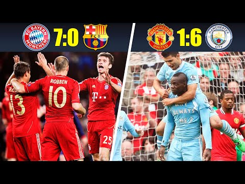 (New) 10 most humiliating defeats in matches of big football clubs • 2010s decade