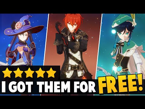 (New) The #1 mistake everyones doing in genshin impact e how i got the best 5✰ characters for free!