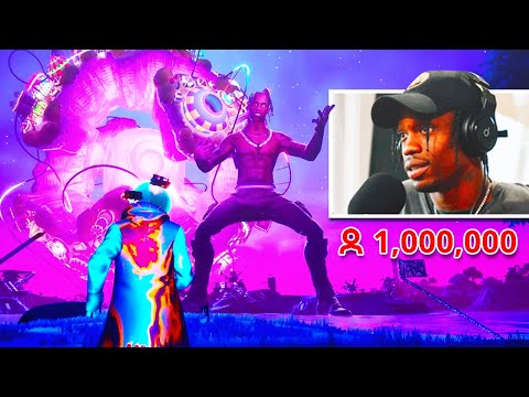 (VFHD Online) Travis scott reacts to his fortnite live event concert!