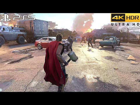 (New) Jogabilidade do marvels avengers (ps5) 4k 60fps hdr - (versão ps5)