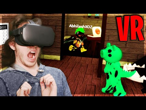 (HD) Playing piggy in vr... (roblox vr)
