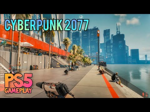 (New) Cyberpunk 2077 free roam e fight [ps5 gameplay] patch 1.22 • 4k hdr