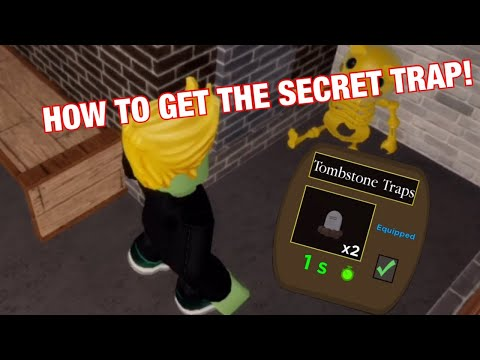 (HD) How to unlock the secret tombstone trap! roblox piggy