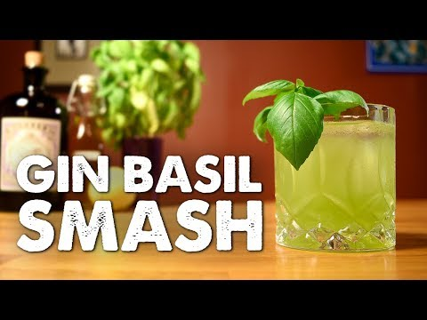 (HD) Gin basil smash - how to make the modern classic and the history behind it