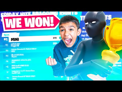 (Ver Filmes) 13 year old plays pro fortnite tournament for the first time!