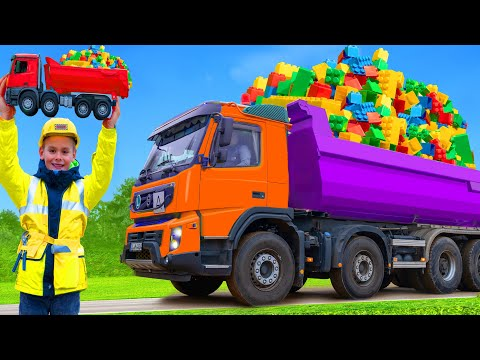 (Ver Filmes) Kids pretend play and learn with trucks, excavators e toy vehicles