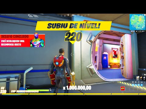 (New) Novo glitch de xp infinito fortnite como upar rapido level 220
