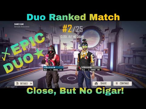 (New) Ranked duo | close enough to booyah | dyanamic duo | three tie gaming | garena free fire