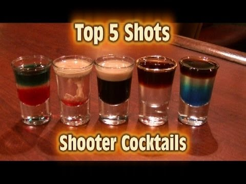 (New) Top 5 shot drinks shooter cocktails top five