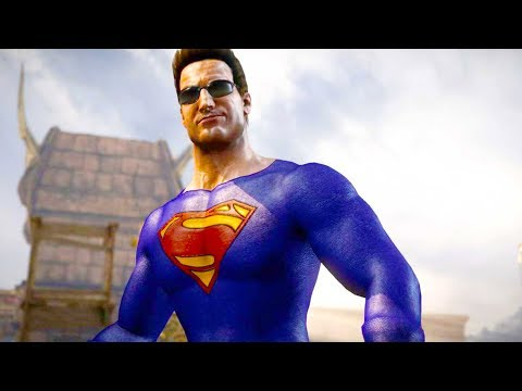 (New) Mortal kombat xl - superman johnny cage costume skin mod performs intros on alll stages 4k mods