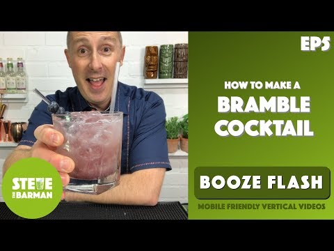 (HD) How to make a bramble cocktail, the tastiest gin cocktail - ep5