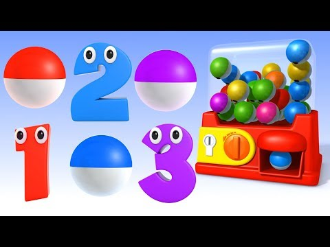 (Ver Filmes) Learn numbers with gumball machine surprise balls - numbers video collection for children