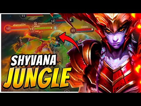 (VFHD Online) Shyvana jungle! uma máquina de batalha! - league of legends: wild rift