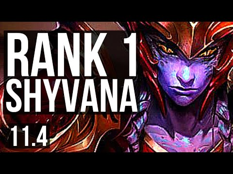 (New) Shyvana vs lee sin (jungle) | rank 1 shyvana, 4 0 7 | kr challenger | v11.4