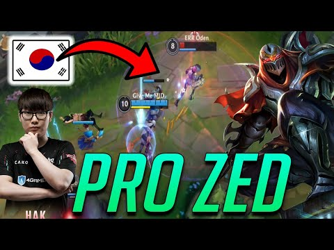 (New) Korean pro zed hak | this is how pro players play zed in wild rift