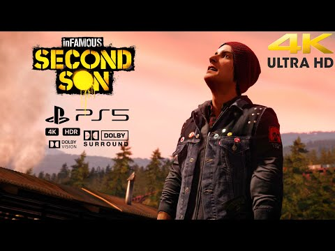 (New) Infamous second son 4k 60fps hdr playstation 5   ps5 gameplay