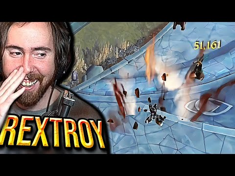 (New) Kamikaze! asmongold reacts to rextroy new one shot combo | shatter bomb (shadowlands)