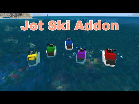 (New) Jet ski add-on minecraft bedrock edition