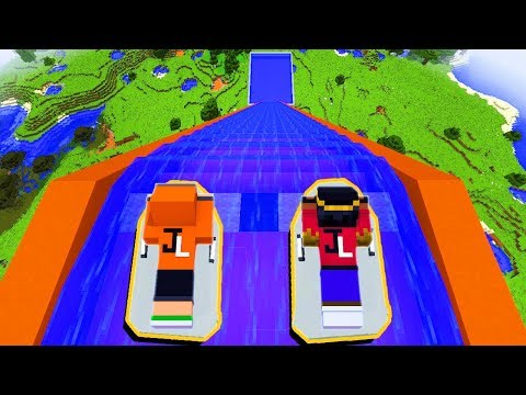 (New) Descemos de jet ski o maior toboágua no mundo do minecraft! ‹ lobinho ›