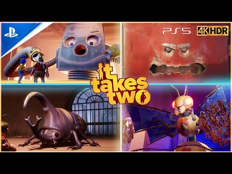 (New) It takes two - all boss fights e ending - best co-op game 2021 ( ps5 4k hdr )