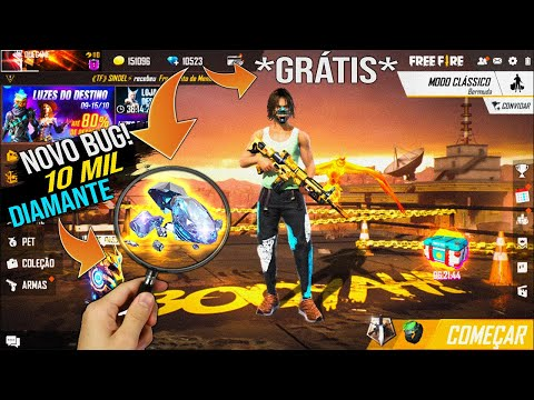 (New) Inédito! bug de 10000 diamante de graça no freefire !! pegue agora