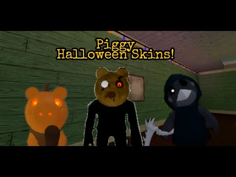 (New) Showcasing the 3 new halloween skins and trap in roblox piggy! (piggy halloween event)