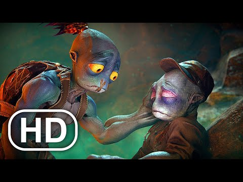 (New) Oddworld soulstorm full movie animation (2021) all cinematics 4k ultra hd