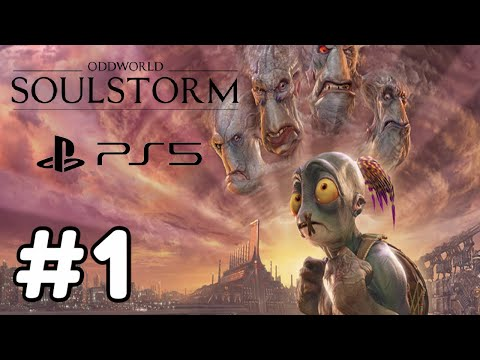 (New) Oddworld soulstorm-100% gameplay walkthrough-part 1-on our way to take down soulstorm brewery! (ps5)