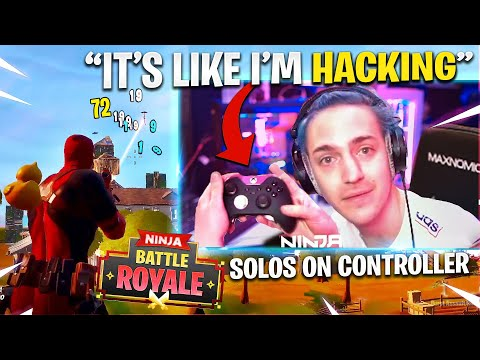 (New) Ninja tries fortnite with a controller!
